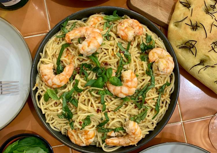 25 Minute Step-by-Step Guide to Prepare Winter Shrimp Aglio Olio