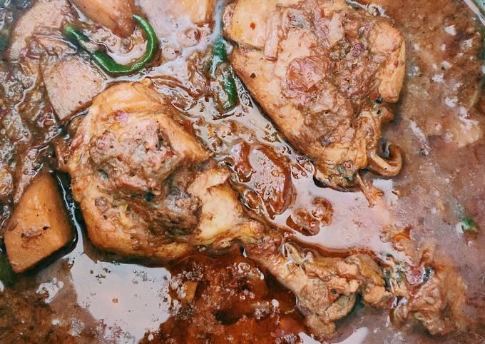 Kadai/ Karahi chicken recipe