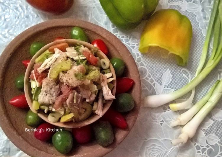 Recipe: Perfect Chicken & Bell Pepper Salad