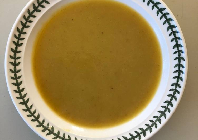 Curried Parsnip Soup from the cupboard