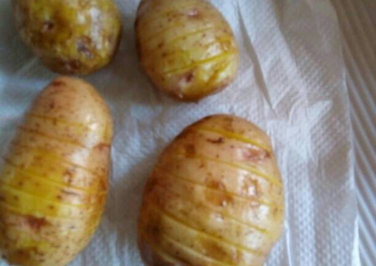 Simple Way to Prepare Award-winning Potatoes baked in a microwave