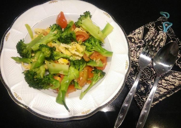 Brokoli Tomat Ca Bawang Putih