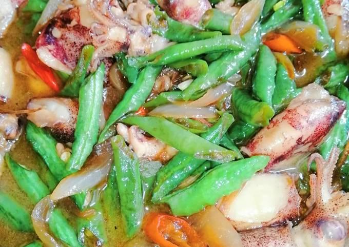 Sotong masak kicap + sos tiram