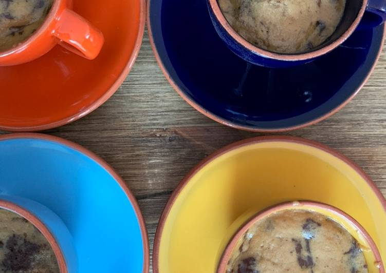 How to Make Quick Microwave cookie dough - mug cake