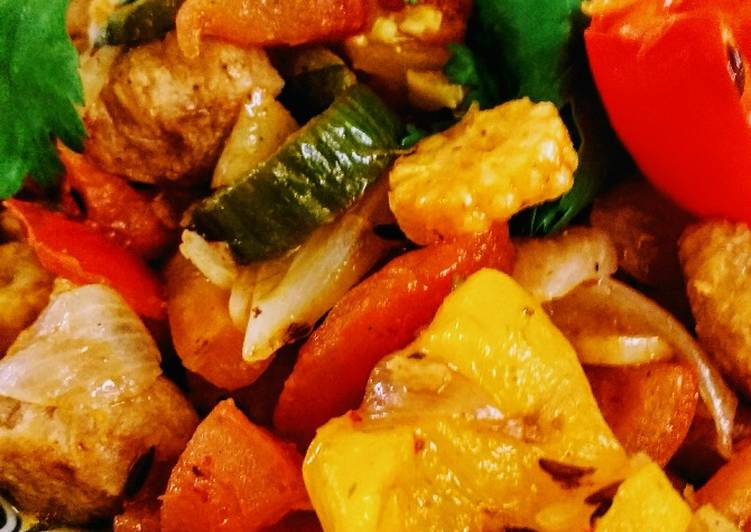 Steps to Make Perfect Thai Red Curry Veg…With winter veggies