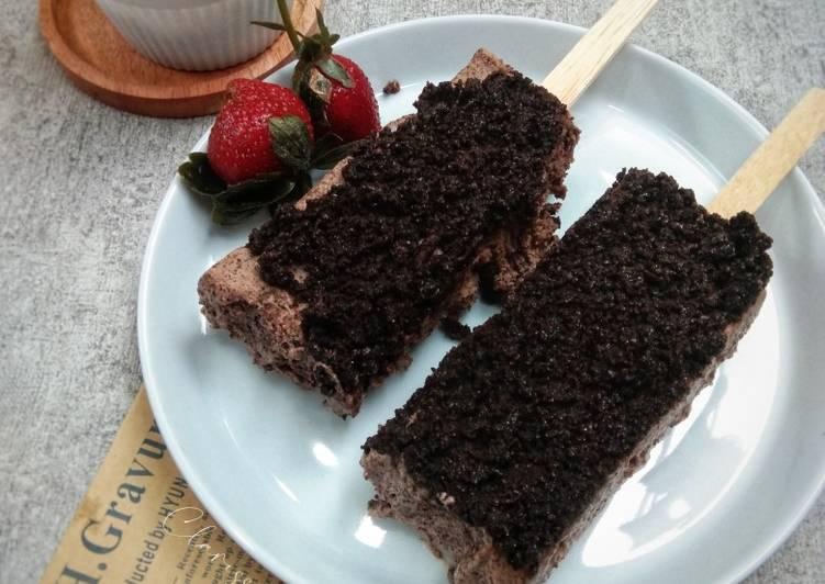 Es cream chocolate oreo