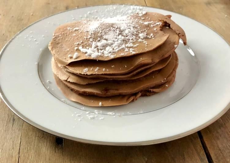 Recette Délicieux Pancakes au chocolat