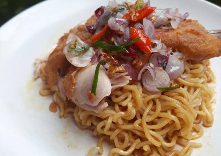 Resep Indomie homemade+Sambel matah Top