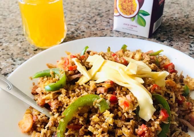 Left over rice power brunch!!!