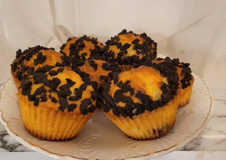 Muffins cœur chocolat et oréo