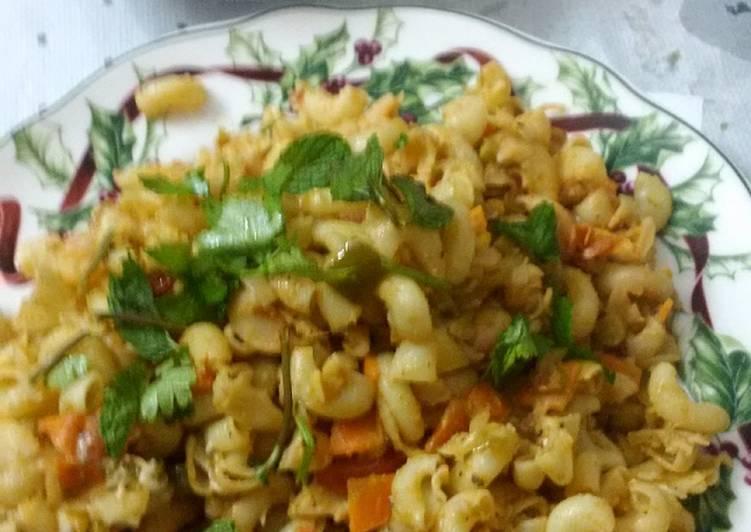 Macaroni Pasta - Indian style