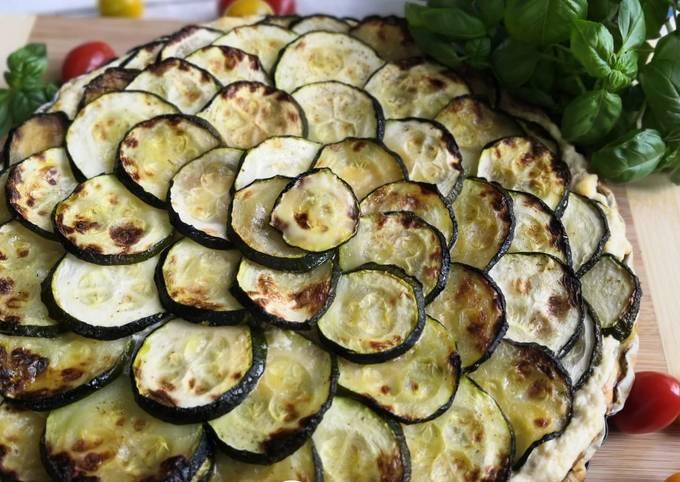 Tarte salée Ricotta saumon et courgettes