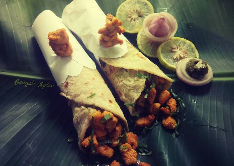 Easiest Way to Prepare Yummy Spicy  Chicken Wrap ♥