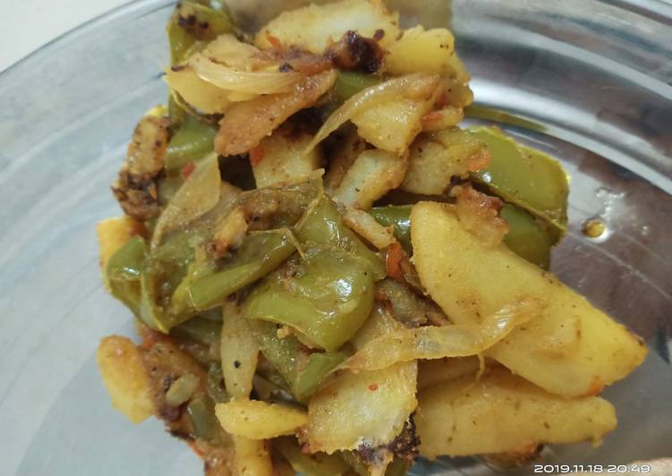 10 Minute Recipe of Spring Aaloo shimla mirch