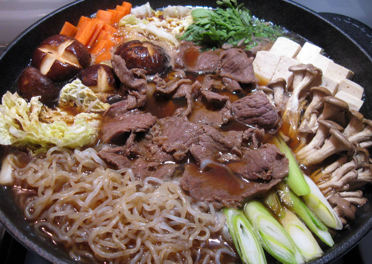 Simple Way to Make Super Quick Homemade Sukiyaki