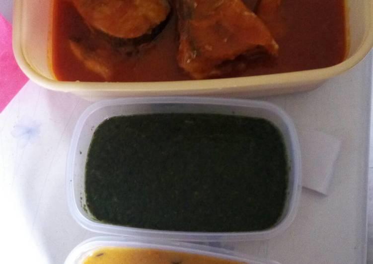 How to Make Most Popular Gbegiri, Ewedu & Fresh Fish Stew Combo