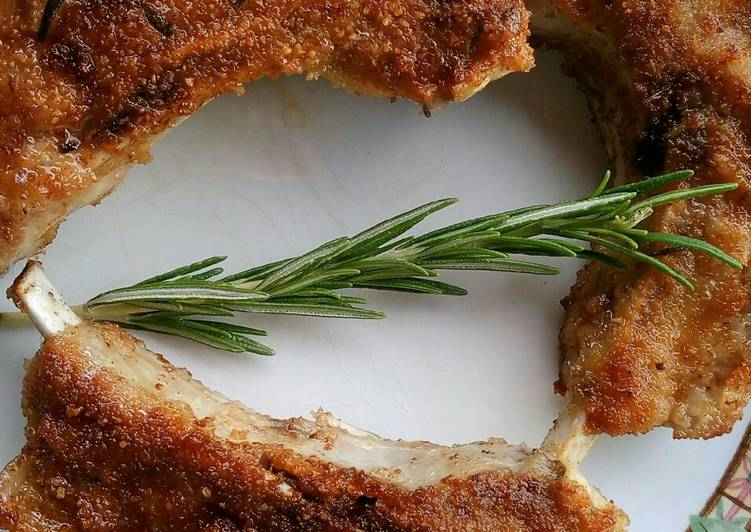 Easiest Way to Prepare Homemade Rosemary and garlic breaded fried lamb