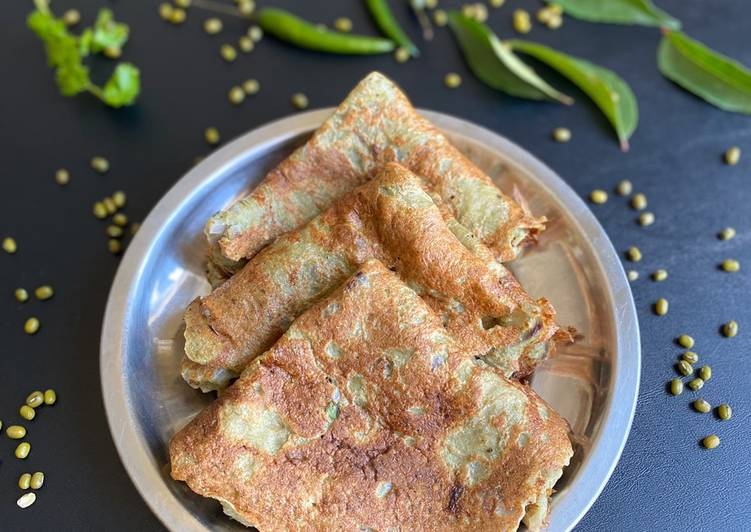 Recipe: Yummy Moong dal dosa