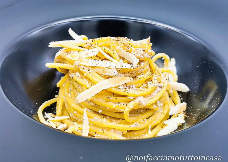 Spaghetti Cacio e Pepe Alternativi (Gluten Free) con Maschèrpa d'Alpeggio
