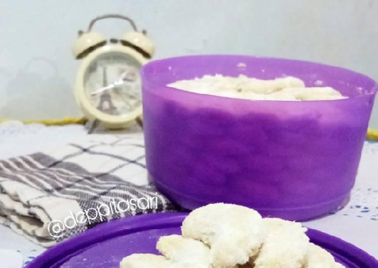 Kue Putri Salju (tanpa oven, tanpa mixer, takaran sendok)