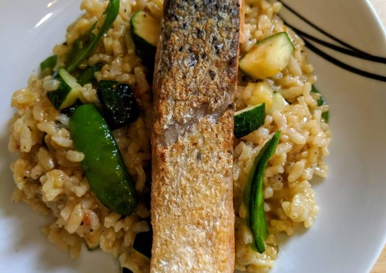 Easiest Way to Prepare Favorite Salmon risotto