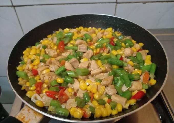 menu sahur sederhana dan praktis tumis ayam jagung