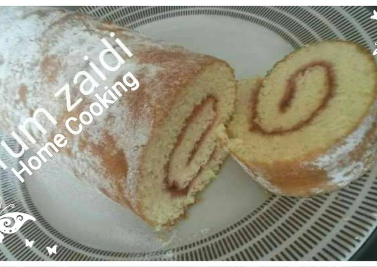 Steps to Make Super Quick Homemade 🌯🌯Swiss Roll 🌯🌯