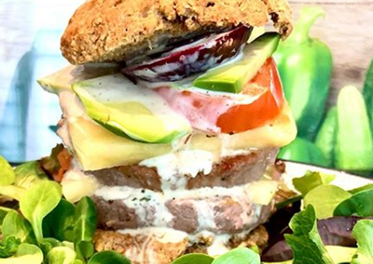 Burger Double Chesse Healthy