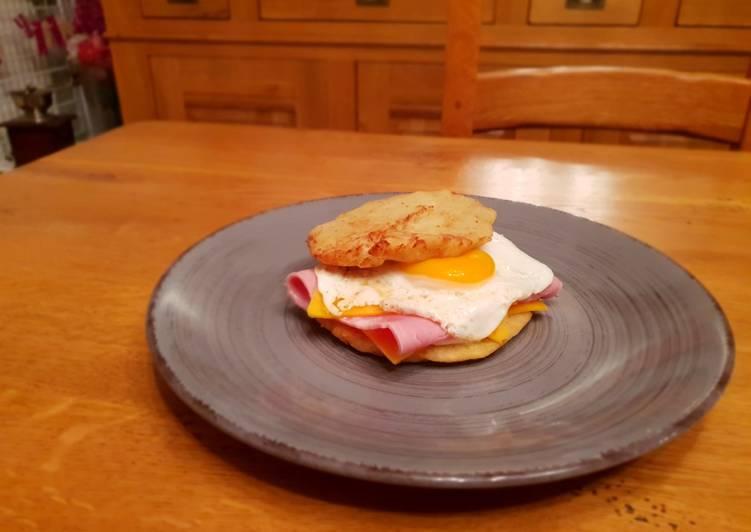 Beignet de patate douce façon hamburger