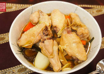 How to Make Yummy Steamed Chicken with Mushroom and Vegetables