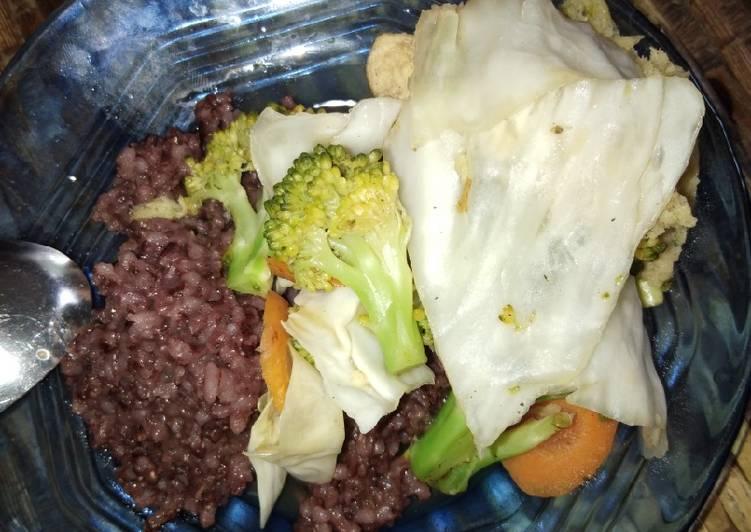 Sarapan diet diabetes type 1 (nasi merah)
