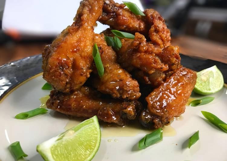 Recipe of Award-winning Honey Malibu chicken wings