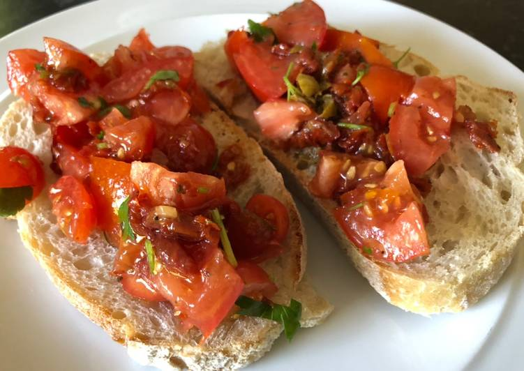 Recipe of Perfect Quick and tasty tomatoes on toast