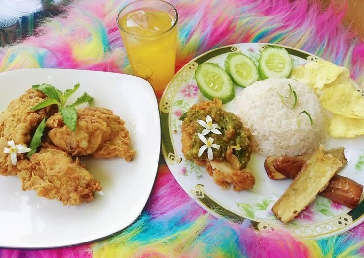 Resep Ayam geprek pedas gurih Anti Gagal