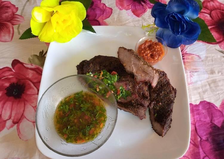 Lamb roast with chimmichurri