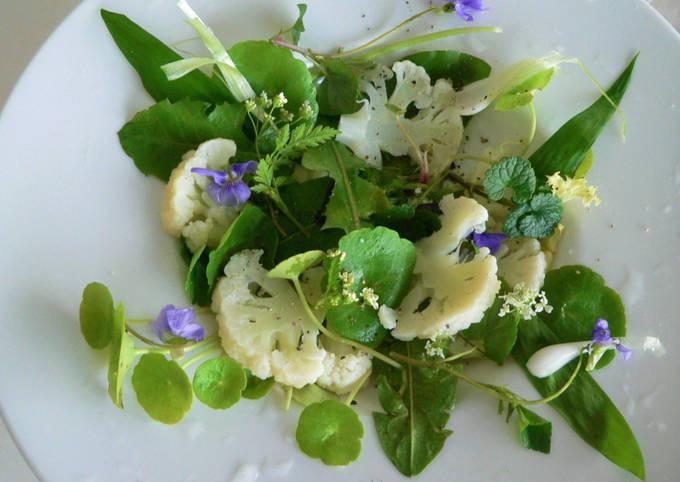 Salade de printemps à l'ail des ours