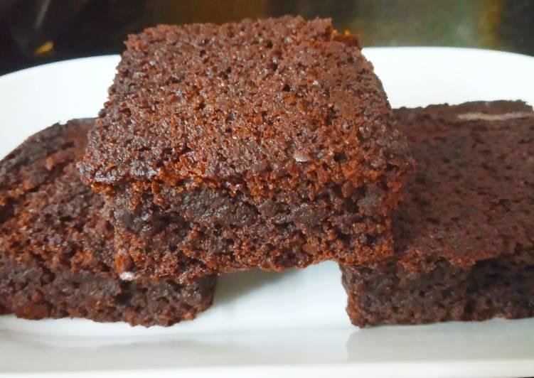 Eggless Fudgy chocolate brownies