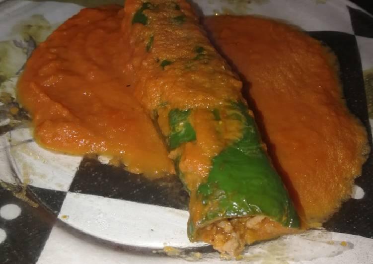 Pimientos Verdes Rellenos De Carne En Salsa De Tomate Receta