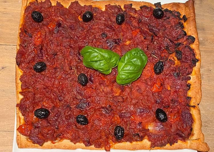 Pichade (Pissaladière à la tomate)
