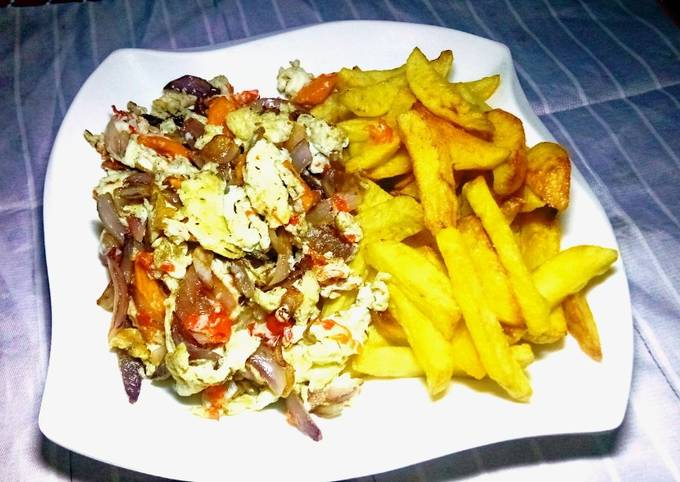 French Fries and Onions scrambled eggs