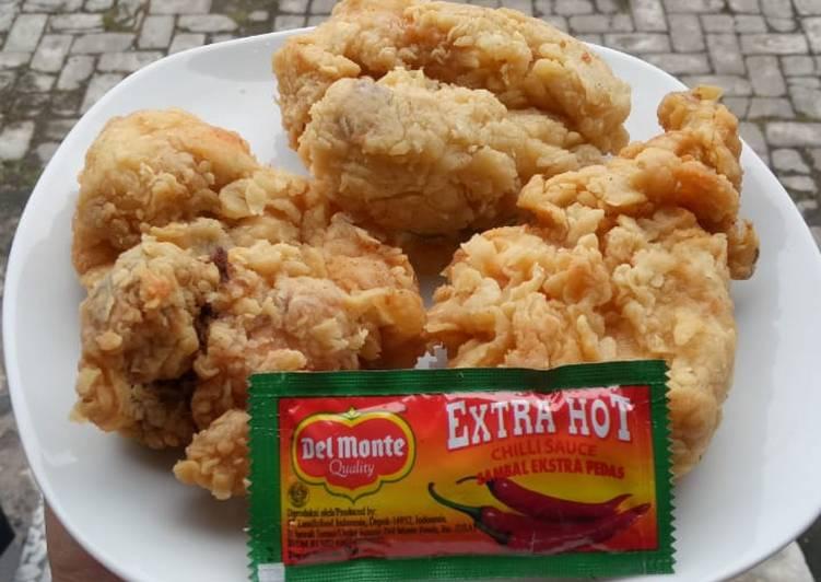 Ayam crispy sederhana namun tetap renyah empuk