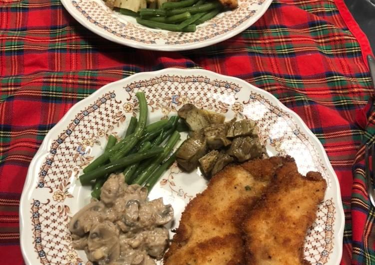 Cena rápida: pollo rebozado y verduras de fácil elaboración