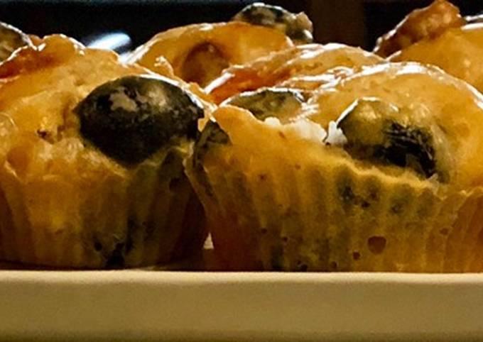Petits cakes salés olives noires et chorizo