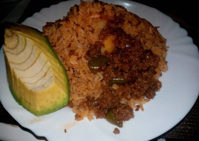 Fried rice with mince meat#rice recipe