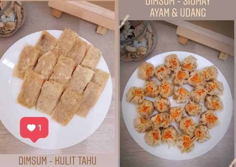 Resep Dimsum Ayam Udang Siomay Dan Kulit Tahu Saos Dimsum Oleh Dita Tri Arum Sari Cookpad