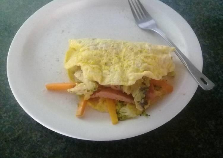 Simple Way to Prepare Perfect Veggie omelette