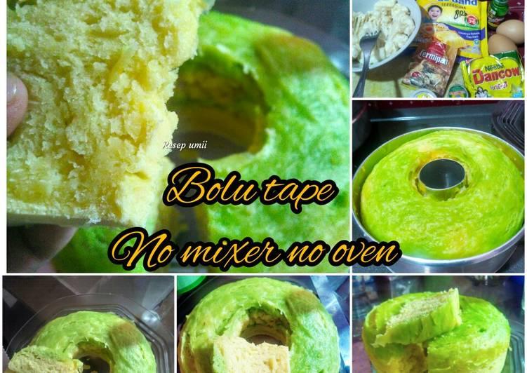 Resep Bolu tape(no mixer no oven) Sederhana