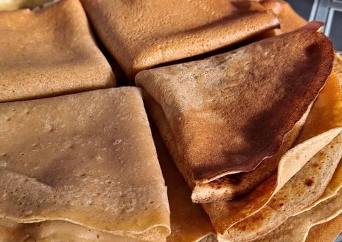 Crêpes à la farine de patate douce