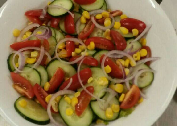 Easiest Way to Prepare Perfect Sweetcorn and cucumber salad
