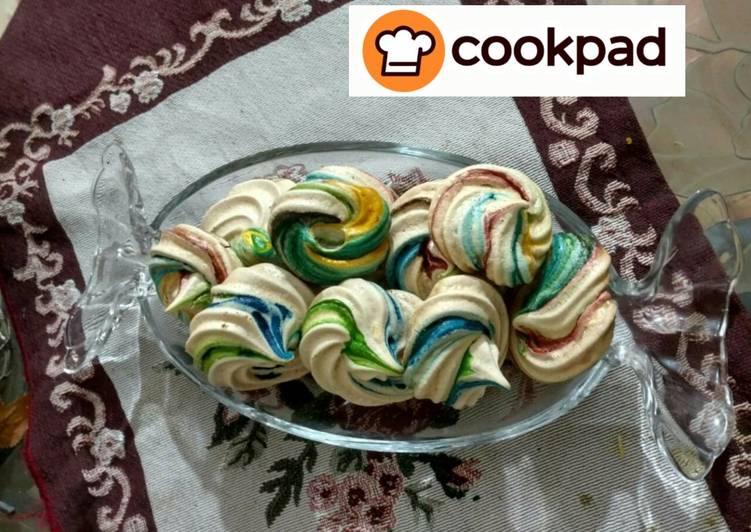 Simple Way to Prepare Super Quick Homemade Rainbow Meringue